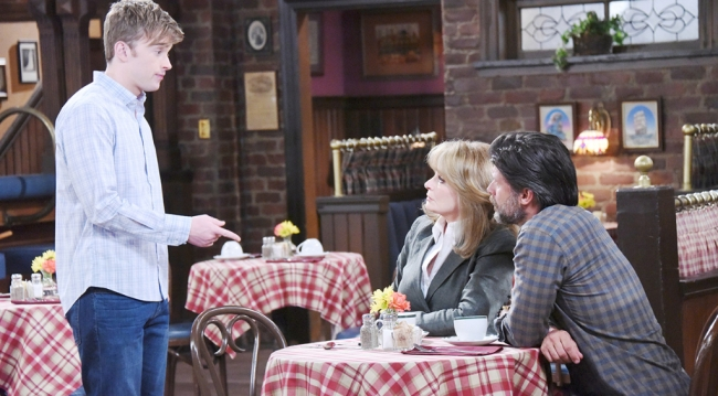 Will, Marlena and Eric at the pub