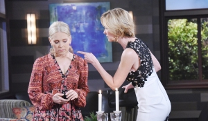 Jennifer and Eve argue about their lovers days of our lives
