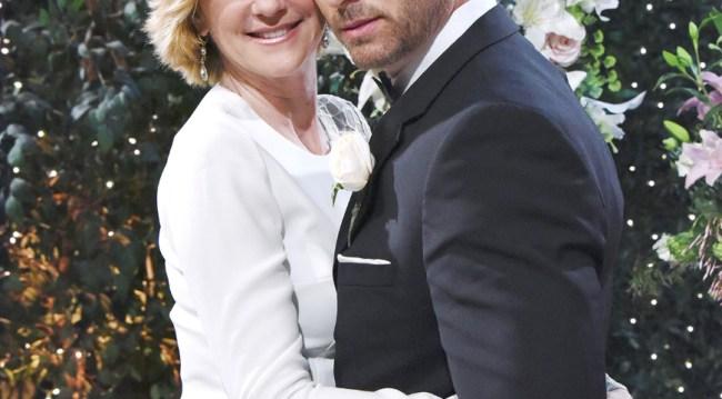 Brady and Eve at John and Marlena's wedding