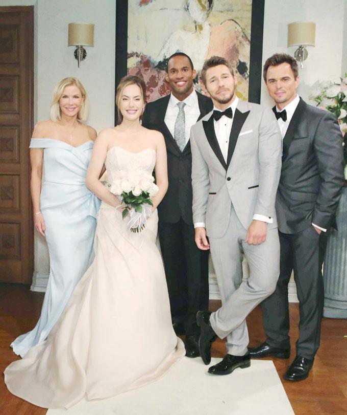 Liam, Hope wedding party