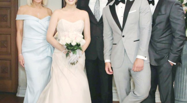 Liam and Hope's wedding party