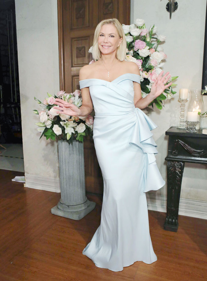 Brooke at Liam and Hope's wedding