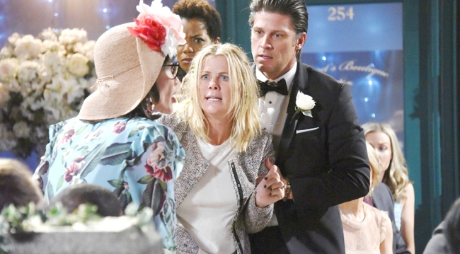 """Eric holds Sami back from """"Susan"""""""