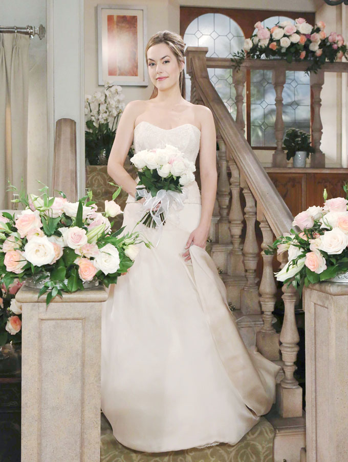 Hope in her wedding gown