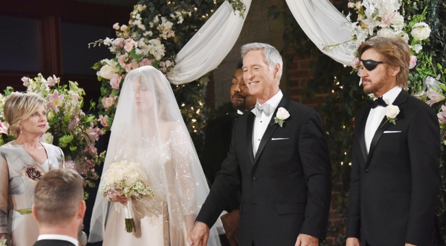 The bride and groom, Marlena and John