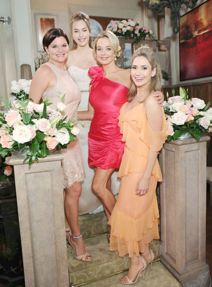 Katie, Hope, Donna and Bridget at Liam and Hope's wedding