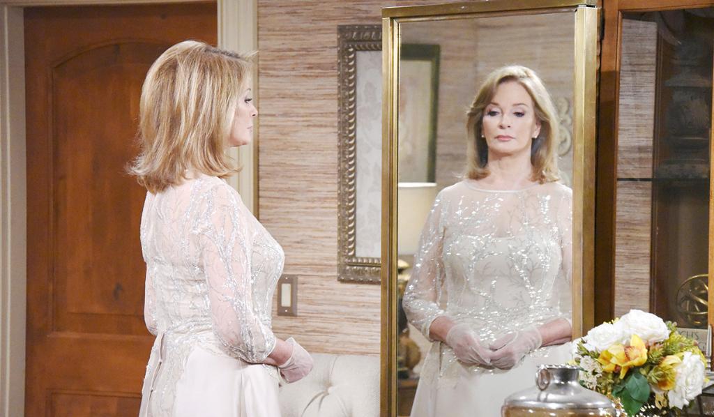 Marlena looking ethereal in her wedding dress.
