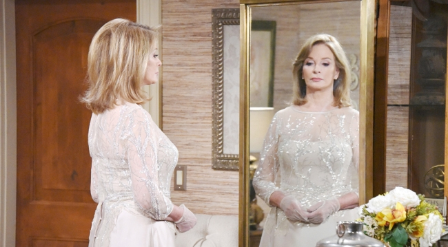 Marlena looking ethereal in her wedding dress.