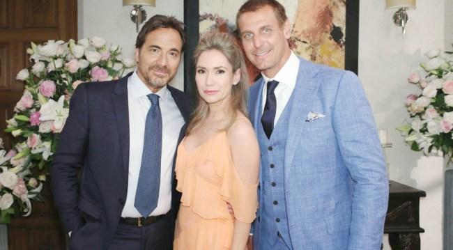 Ridge, Bridget and Thorne at Liam and Hope's wedding