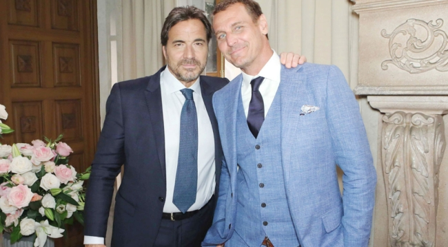 Ridge and Thorne at Liam and Hope's wedding