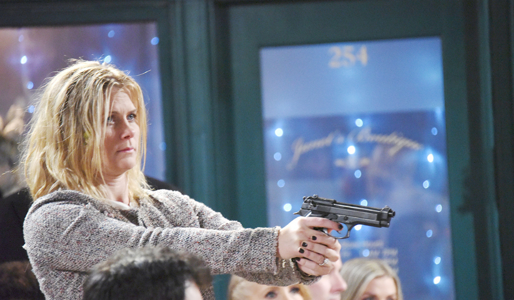 Sami's got the gun and Kristen wants her to kill John