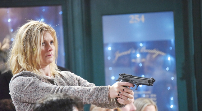 Sami's got the gun and Kristen wants her to kill John