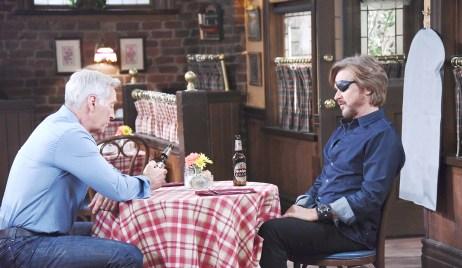 steve and john bond over beer