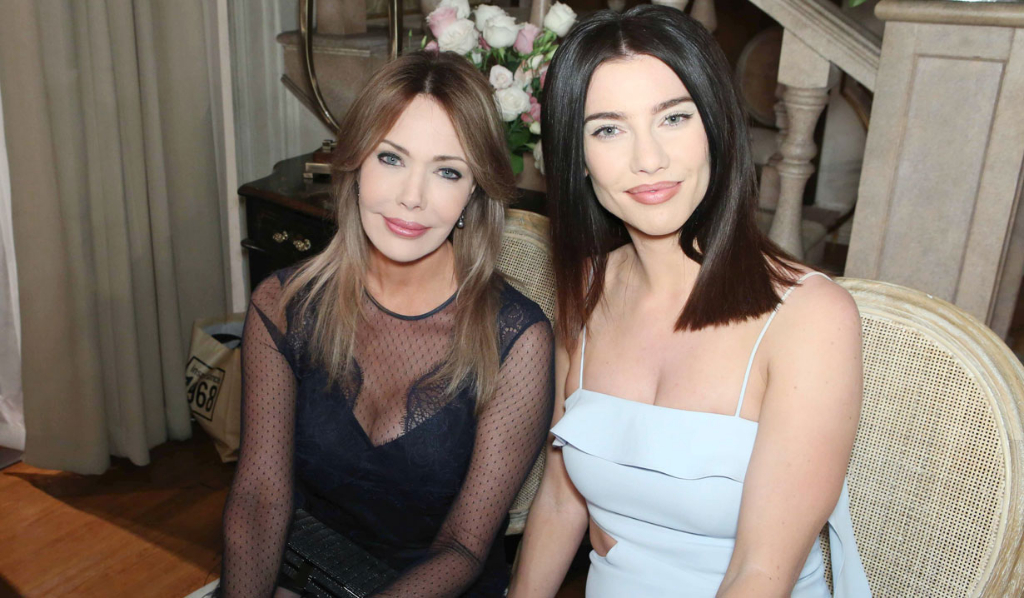 Taylor and Steffy at Liam and Hope's wedding