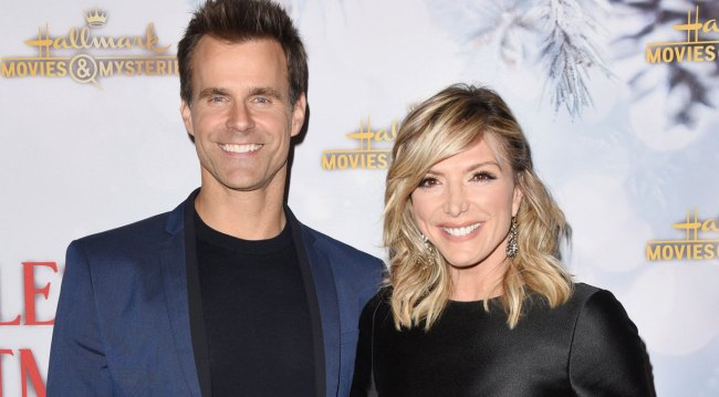 AMC alum Cameron Mathison & Debbie Matenopoulos at holiday party 2018