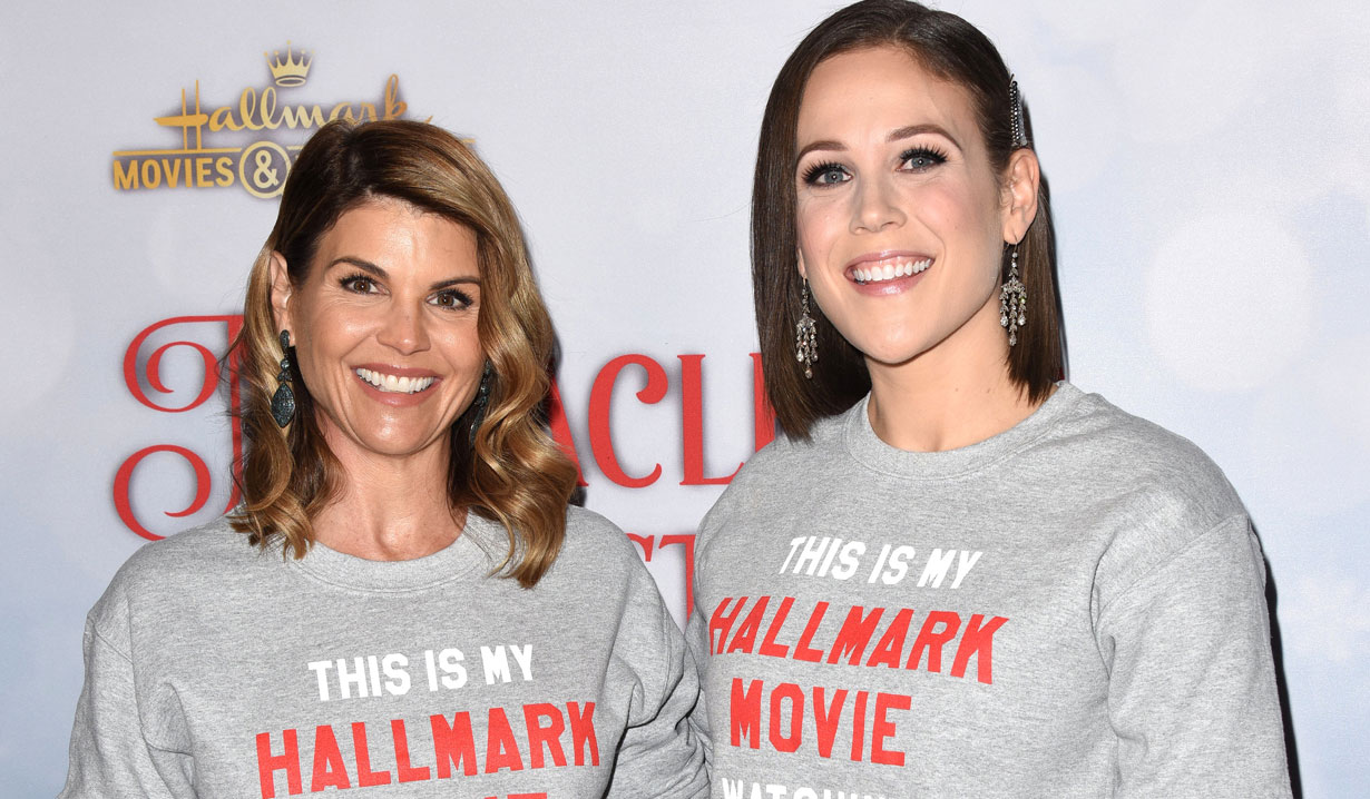 Lori Loughlin & Erin Krakow at holiday party 2018