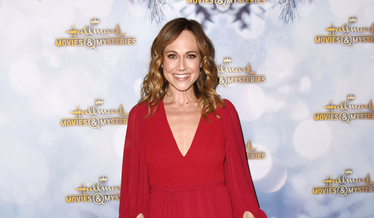 Days alum Nikki Deloach at holiday party 2018