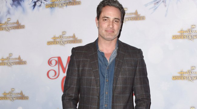 Days alum Victor Webster at holiday party 2018