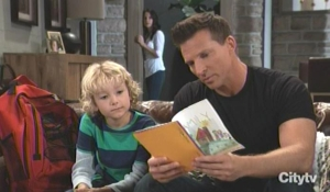 Jason reads a card from Danny on General Hospital