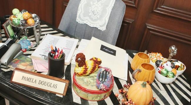 Pam's desk at Halloween