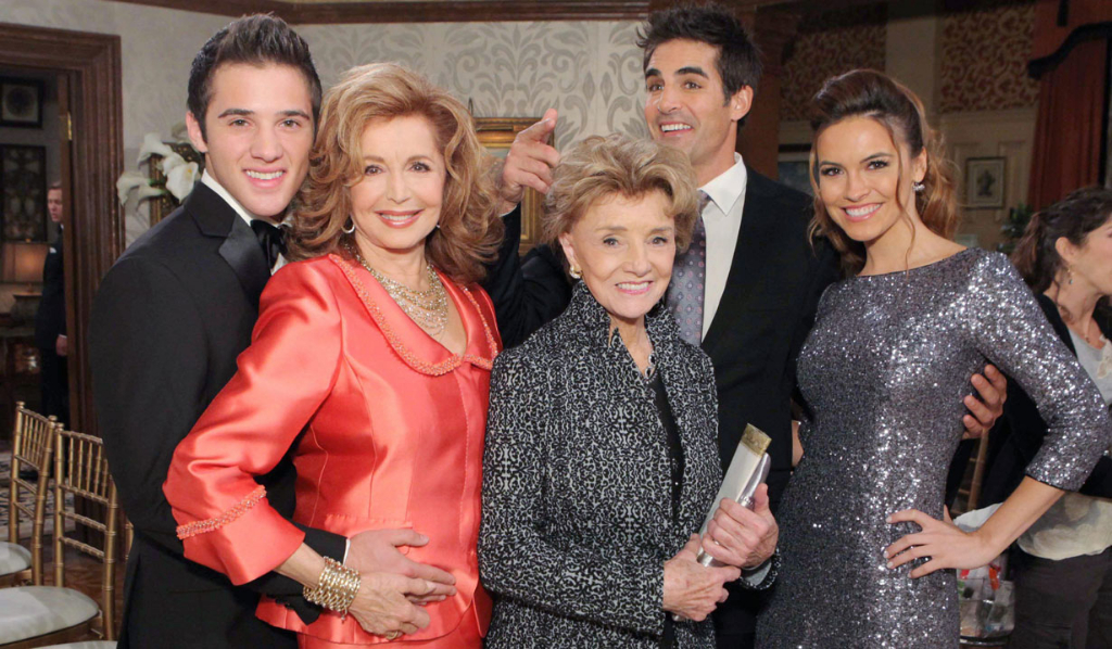Peggy McCay with Days cast, 2013
