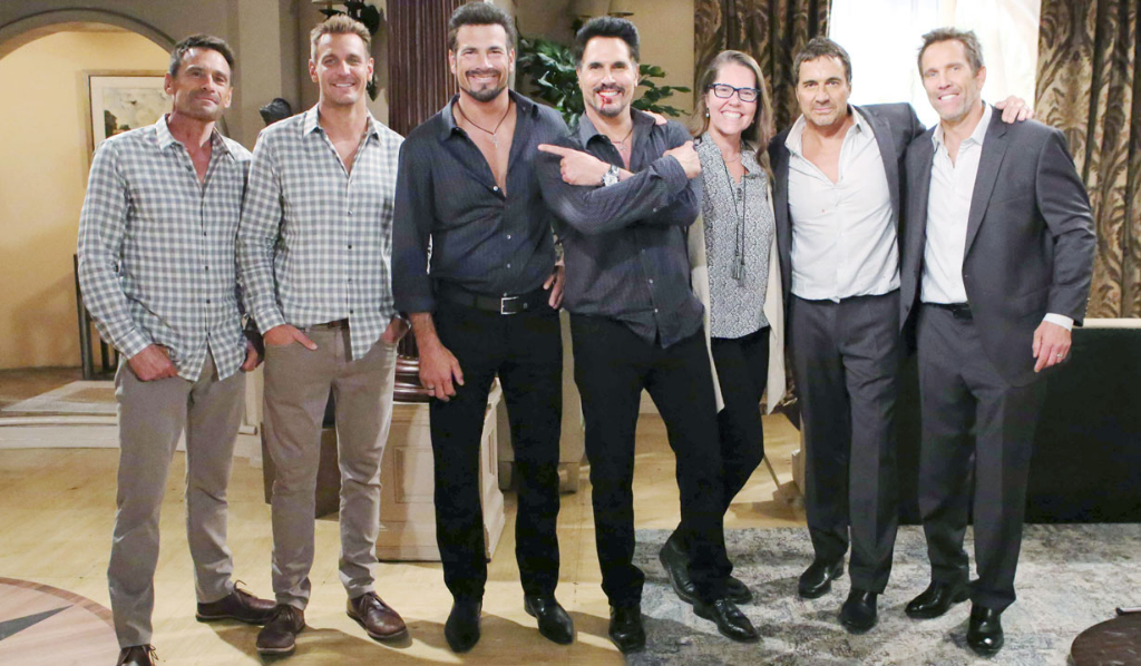 B&B actors with Ridge, Bill and Thorne body doubles