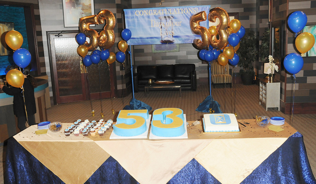 Days of our Lives cake for their 53rd Anniversary party