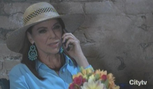 Liesl on the phone
