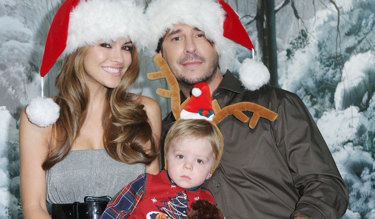 Amanda, Jake and Trevor at Christmas