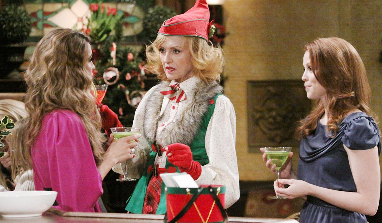 Amanda, Opal and Marissa at Christmas