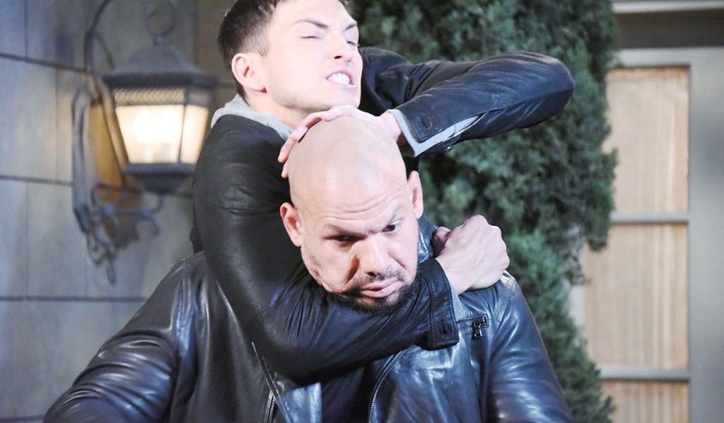 Ben (Robert Scott Wilson) starts to choke out Stefan's guard