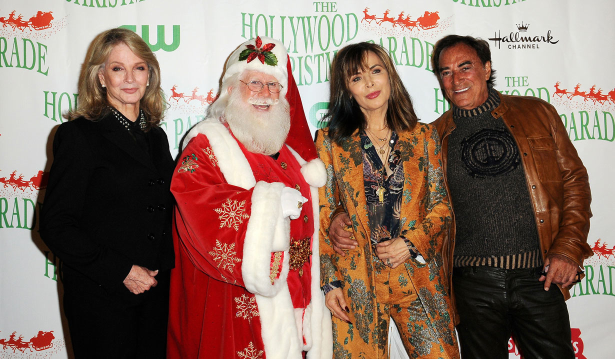 Days stars with Santa at Hollywood Christmas Parade