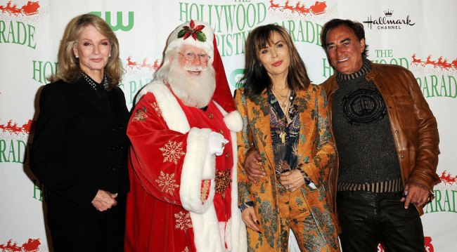 Days stars with Santa at Hollywood Christmas Parade