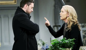 """jennifer and chad yell at each other Melissa Reeves, Billy Flynn""""Days of our Lives"""" SetNBC StudiosBurbank05/25/18© XJJohnson/jpistudios.com310-657-9661Episode # 13472U.S.Airdate 11/19/18"""
