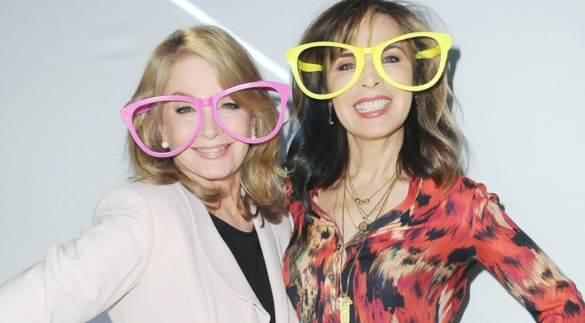 Deidre Hall (Marlena/Hattie) and Lauren Koslow (Kate) at the Days' 53rd Anniversary party