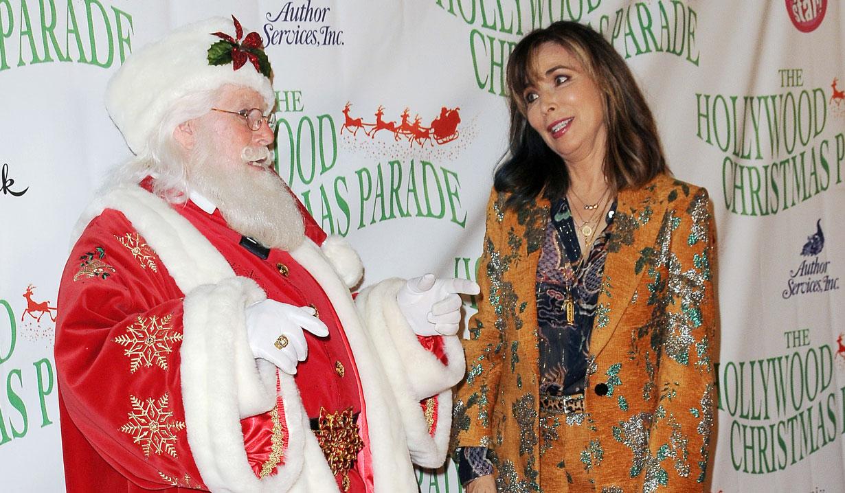 Lauren Koslow and Santa at Hollywood Christmas Parade