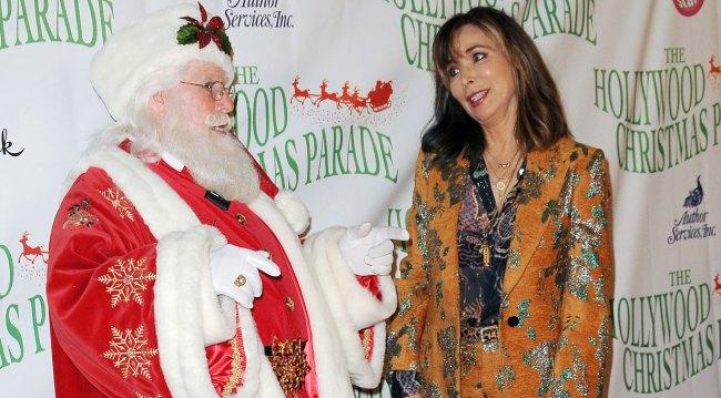 Lauren Koslow and Santa at Hollywood Christmas Parade