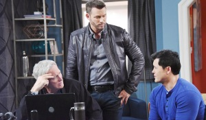 "paul leaves salem Drake Hogestyn, Christopher Sean, Eric Martsolf""Days of our Lives"" SetNBC StudiosBurbank05/25/18© XJJohnson/jpistudios.com310-657-9661Episode # 13473U.S.Airdate 11/20/18"