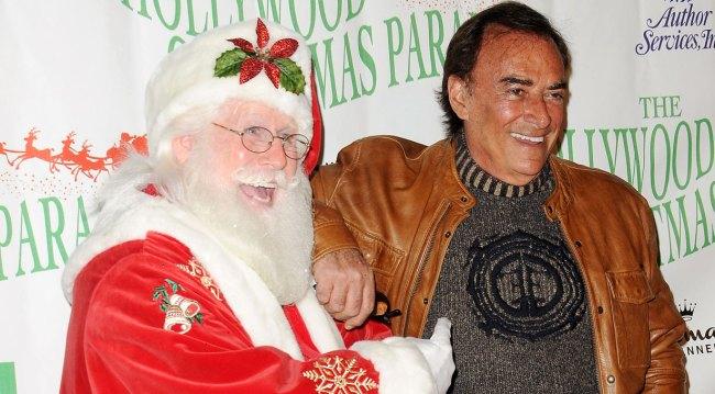 Thaao Penghlis with Santa at Hollywood Christmas Parade