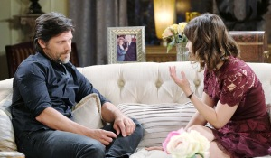 Greg Vaughan, Linsey Godfrey Eric and Sarah kiriakis mansion