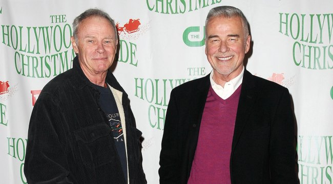 GH's Tristan Rogers and Ian Buchanan at Hollywood Christmas Parade