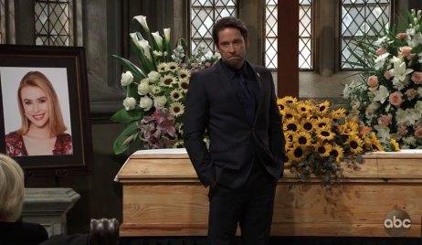 Franco at Kiki's funeral