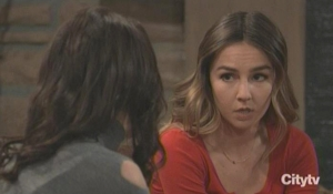 Kristina lectures Sam about Jason GH