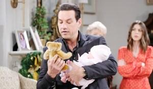 Stefan brings teddy to Charlotte Days