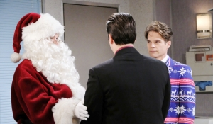 Will Sonny and Leo at Christmas party Days