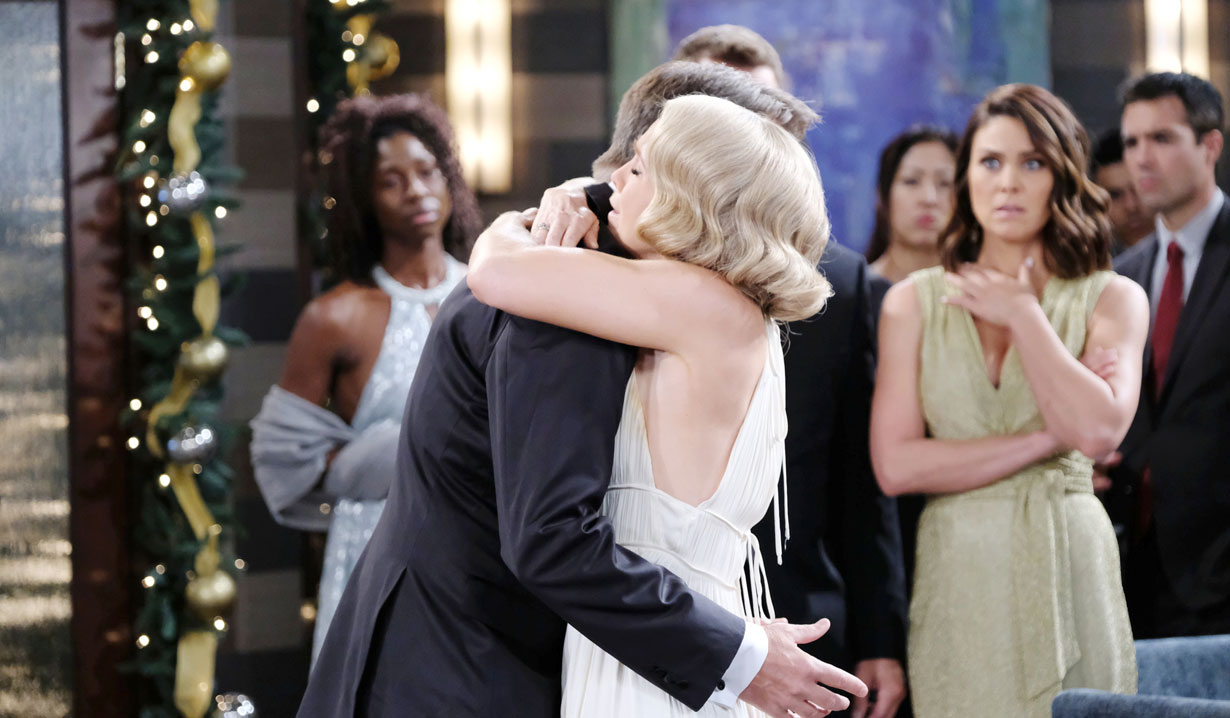 Jenn hugs Jack