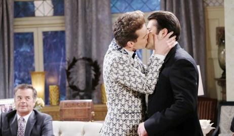 leo kisses sonny, his groom