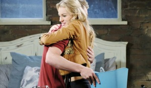 tripp and claire hug