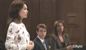 Liz speaks at Cameron's hearing GH