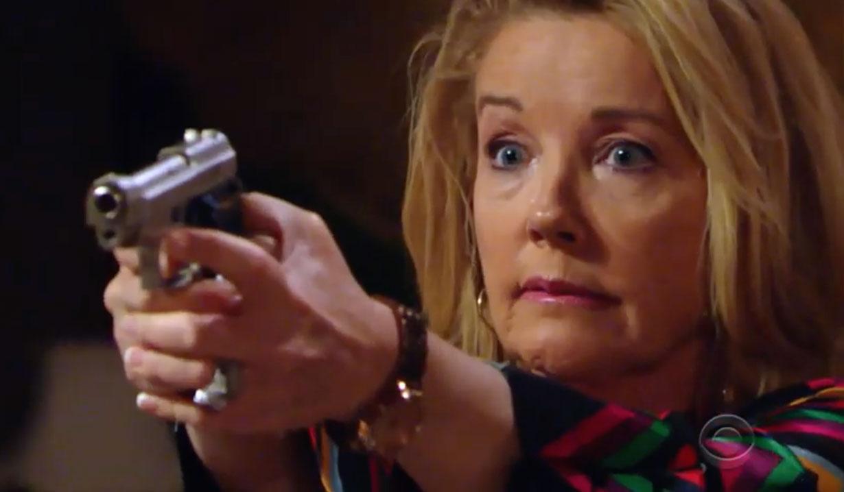 Nikki pulls a gun